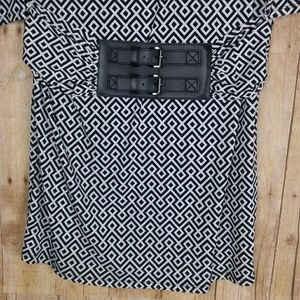 Michael Kors Dresses - Michael Kors Black & White Dress With Belt Size L